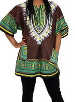 Dashiki Tops With Free Kufi Hats To Match (Free Size) - Unisex
