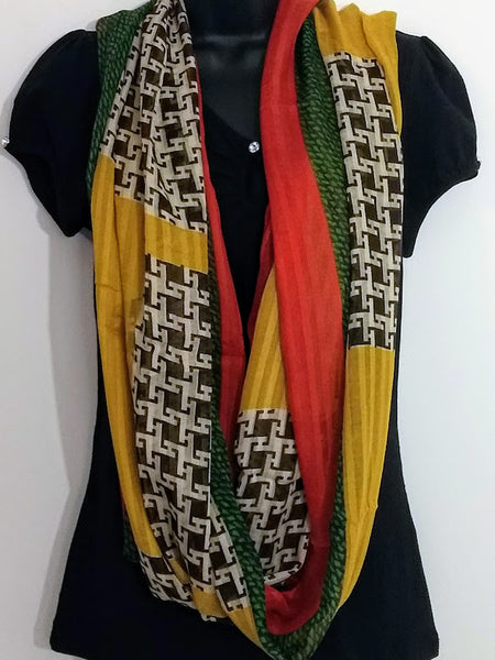 Four Seasons Multi-Pattern Infinity Colorful Scarves