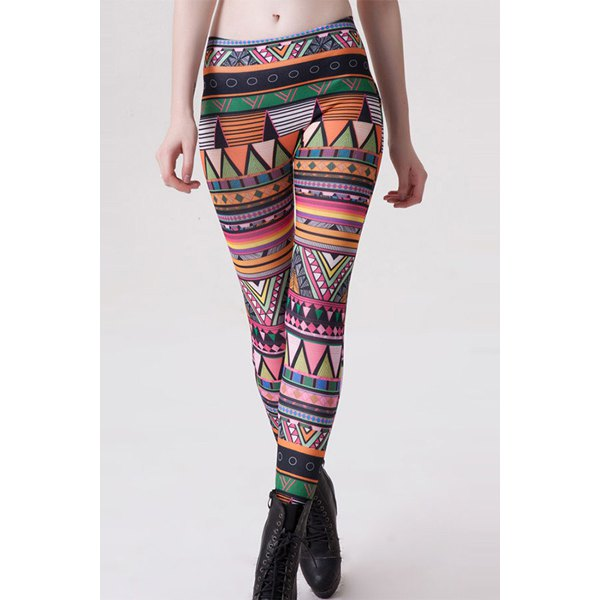 Geometric Print Leggings (One Size)