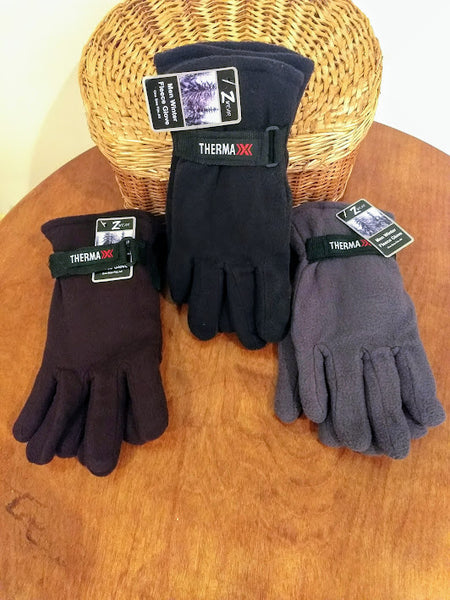 Thermaxx Men's Winter  Fleece Gloves (One Size)