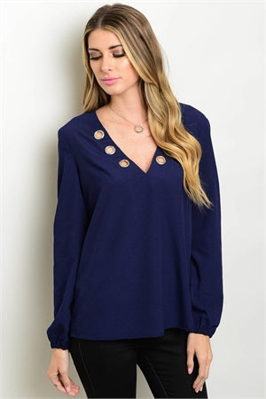 Fashionable Cut-Out Front Blouse