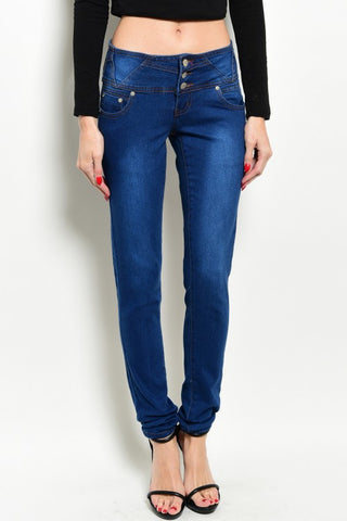 Blue Denim Para Stretch Jeans