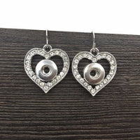Heart Shaped Earrings (With 2 Free Snap-On Jewels)