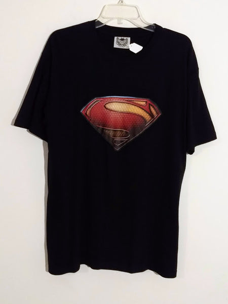 Boys Superman Black T-Shirt