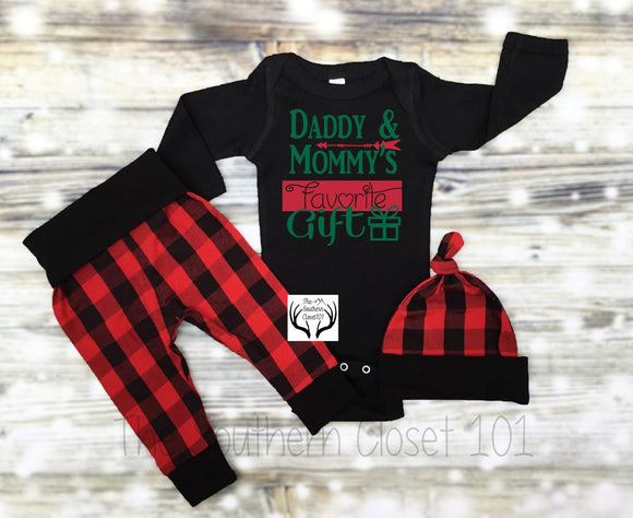 94bfc7977 Baby Boys Christmas Outfit,My First Christmas,Newborn Boy Coming Home  Outfit, Buffalo
