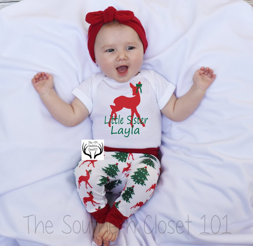 aaaca4f4138c Baby Girl Christmas Outfit