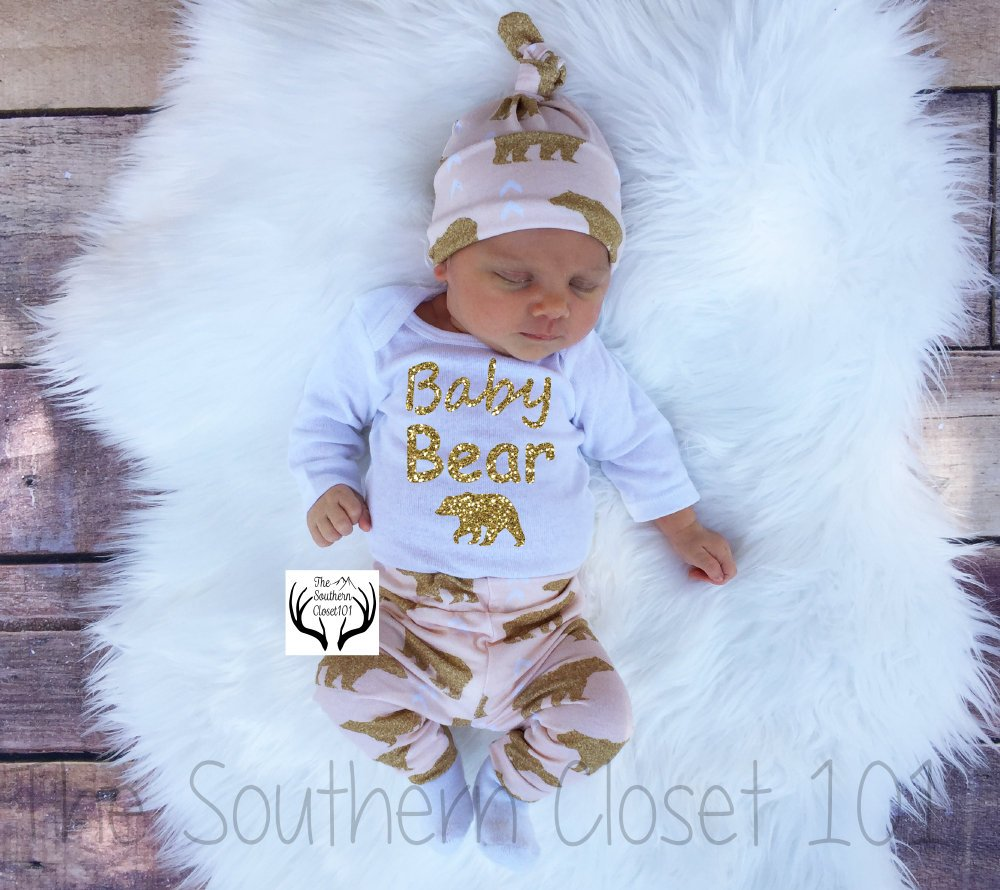 9b50c810e ... Bear Outfit, Baby Girl,Baby Girl Coming Home Outfit,Baby,Newborn Girl  ...