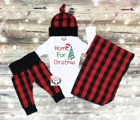 a13fa6019 Baby Boys Christmas Outfit,Christmas,Newborn Boy Coming Home Outfit,Buffalo  Plaid,