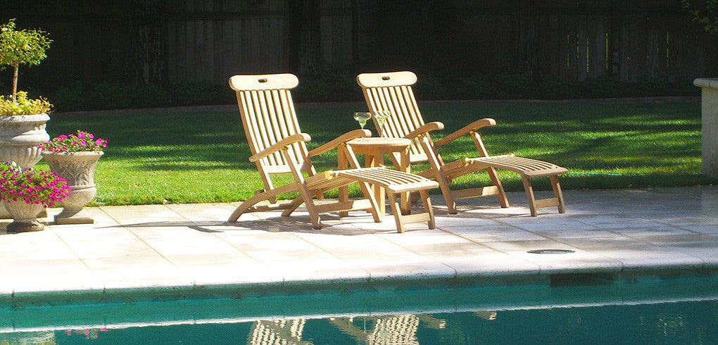 Classic Teak Steamer Chairs & Steamer Loungers