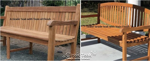 Another Thing To Watch Out For Is Stained Teak. It Is Not Necessary To Use  A Stain On Grade A Teak. You Can Use Teak Oil Or Teak Protector If You Wish  ...