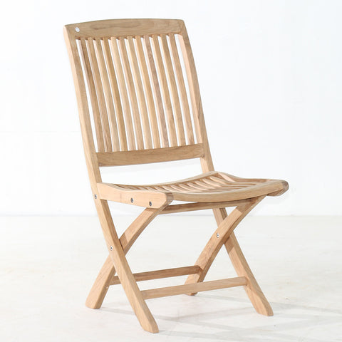 Cambria Folding Side Chair & Teak Folding Chairs for Patio u0026 Gardens | Classic Teak