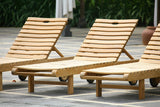 Hampton Teak Chaise Lounger