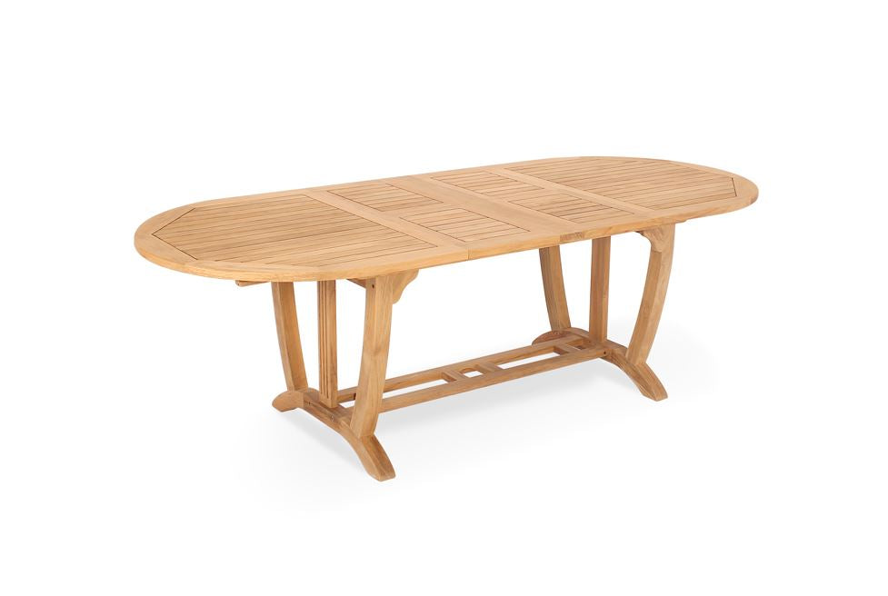 Teak Deluxe Oval Extension Table Large