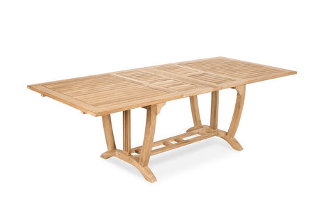 Teak Deluxe Rect Extension Table Large