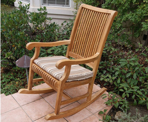 Deluxe Teak Rocking Chair