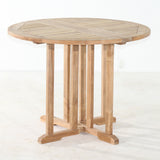 Round Teak Drop Leaf table