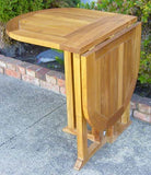 Teak Table Oval Drop Leaf (Half)