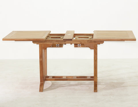 Elegant Deluxe Rectangular Double Extension Table Small