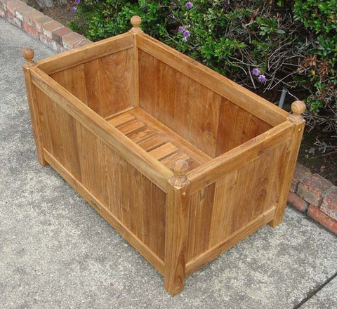 Rectangular Teak Planter