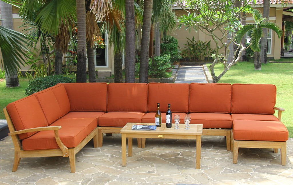 Classic Deep Seating Sectional Sofa Set