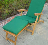 Teak Steamer chair with cushion