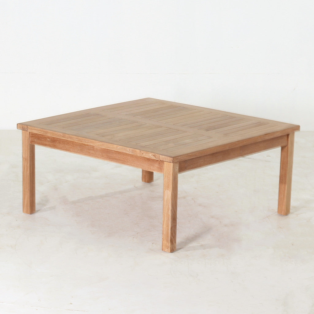 Teak Burger Coffee Table: Square Coffee Table