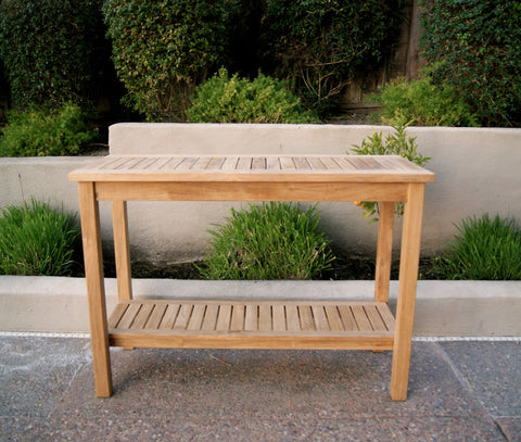 Deluxe Teak Console Table