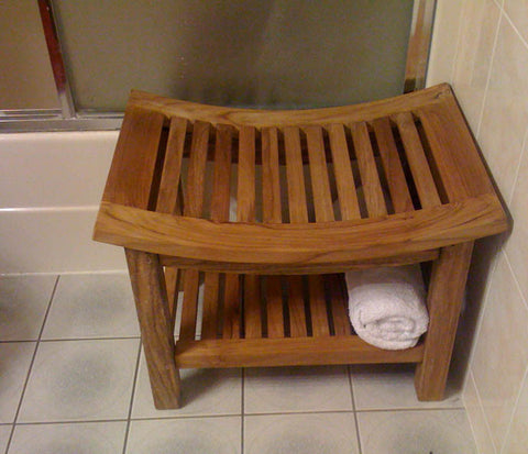 Teak Shower Benches | Accessories,Teak Bath Mats & Organizers
