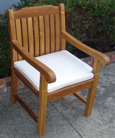 Superbe Teak Arm Chair Cushion ...