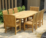 Deluxe Oval Extension Table Set
