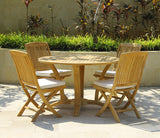 Deluxe Round Table Set with folding Chair