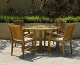 Deluxe Round Table Set with stacking chair