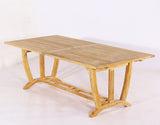 Teak Deluxe Rect Extension Table XLarge