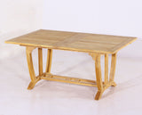Deluxe Rect Extension Teak Table