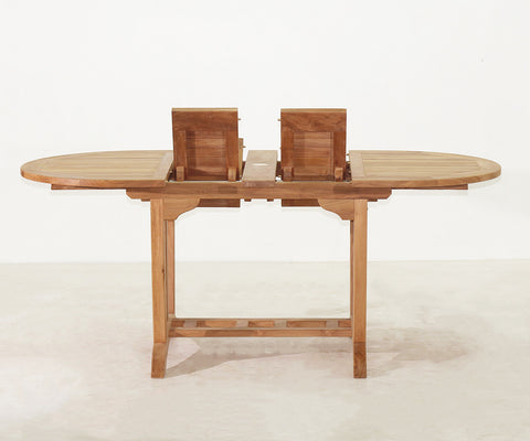 Superb Deluxe Oval Double Extension Table Small