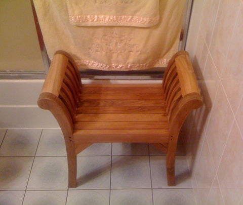 King Teak Shower Bench