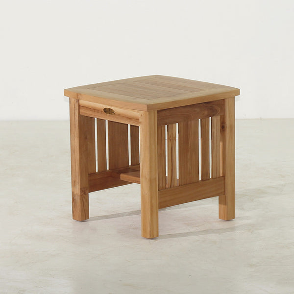 Teak Coffee Table And End Tables: Mission End Table