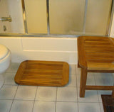 Teak Oval Bath Mat