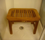 Teak Oval Shower Bench