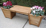 Teak Planter Bench Small