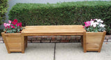 Teak Planter Bench Large