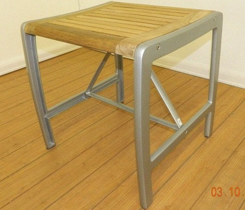Aluminum Teak Single Bench