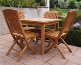 Teak Square Dining Table Set