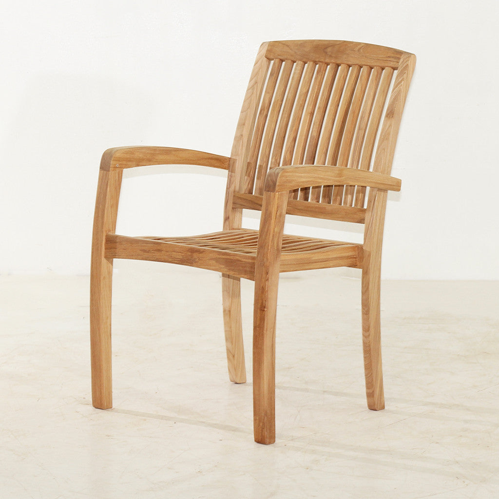 marley teak stacking chair
