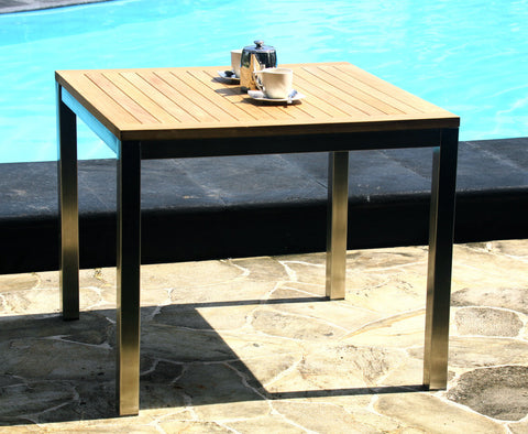 Teak Stainless Steel Table