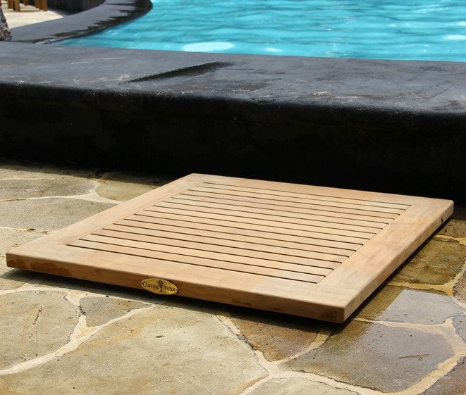 Teak Square Door Mat