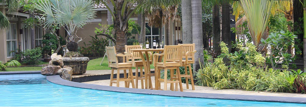 Teak Bar table set
