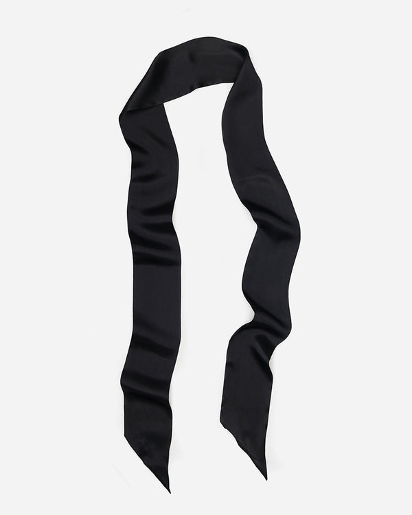 Debbie - Black | Long Skinny Silk Scarf