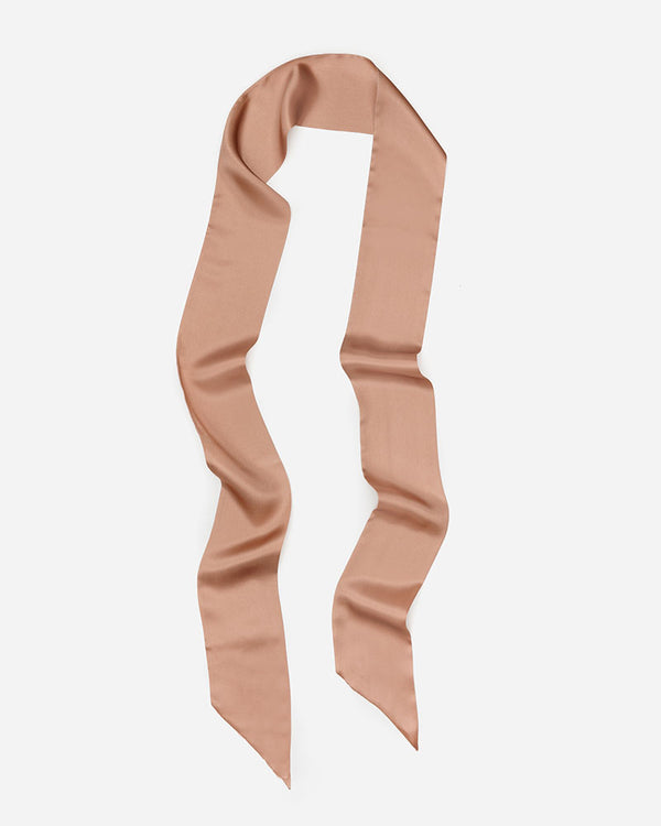 Debbie - Blush | Long Skinny Silk Scarf