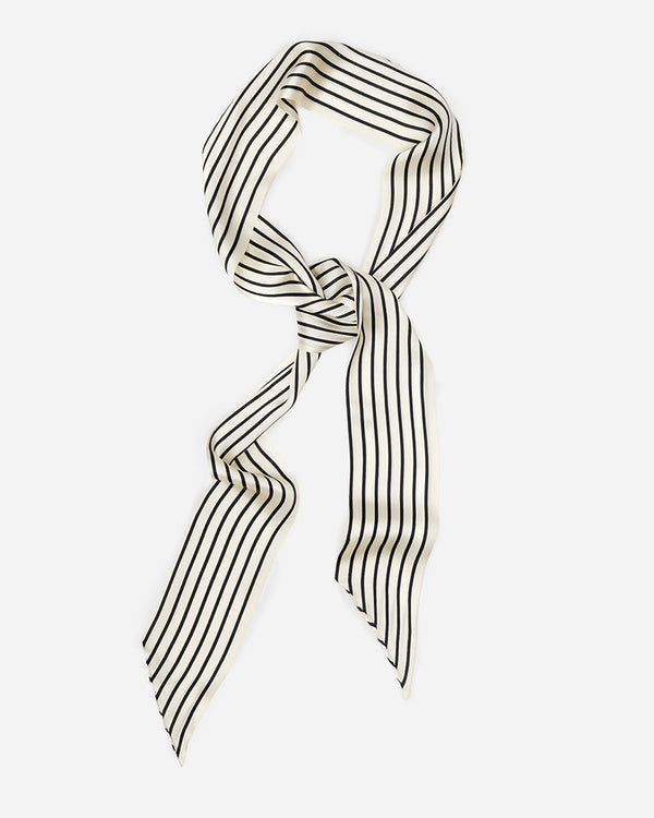 Debbie - Stripes | Long Skinny Silk Scarf